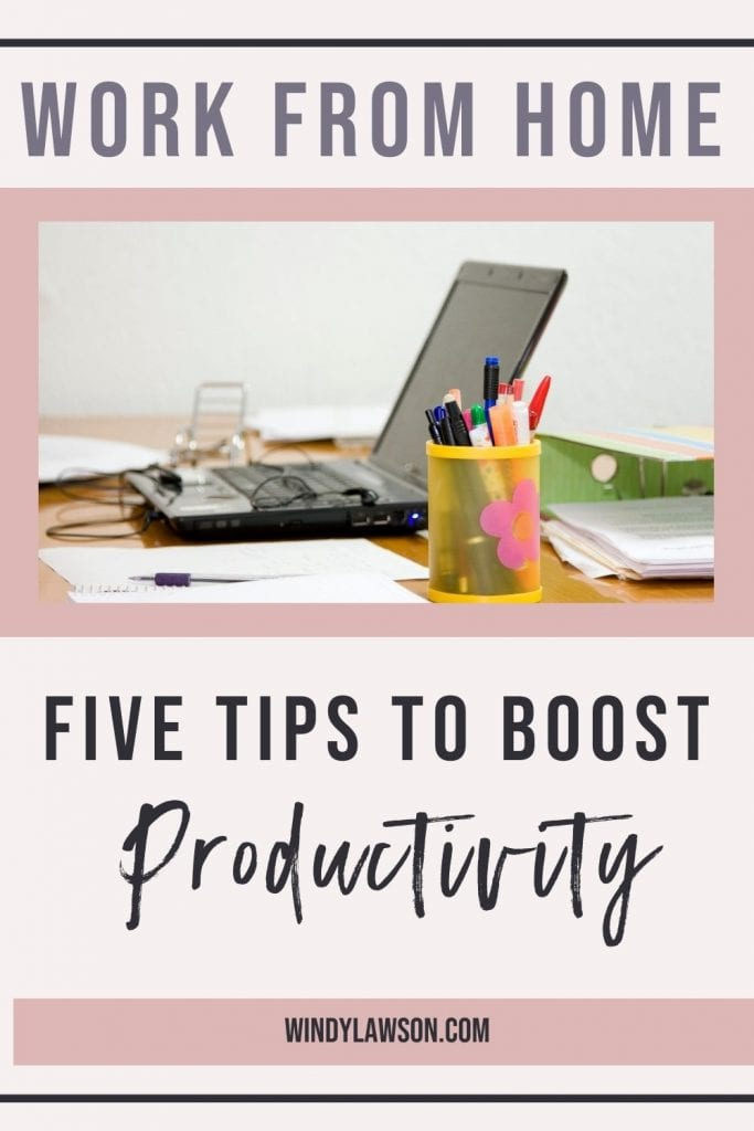 Work from home: Five tips to boost productivity