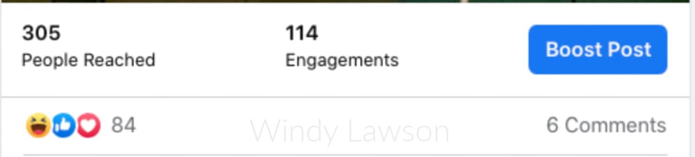 Facebook Engagement Example Windy Lawson